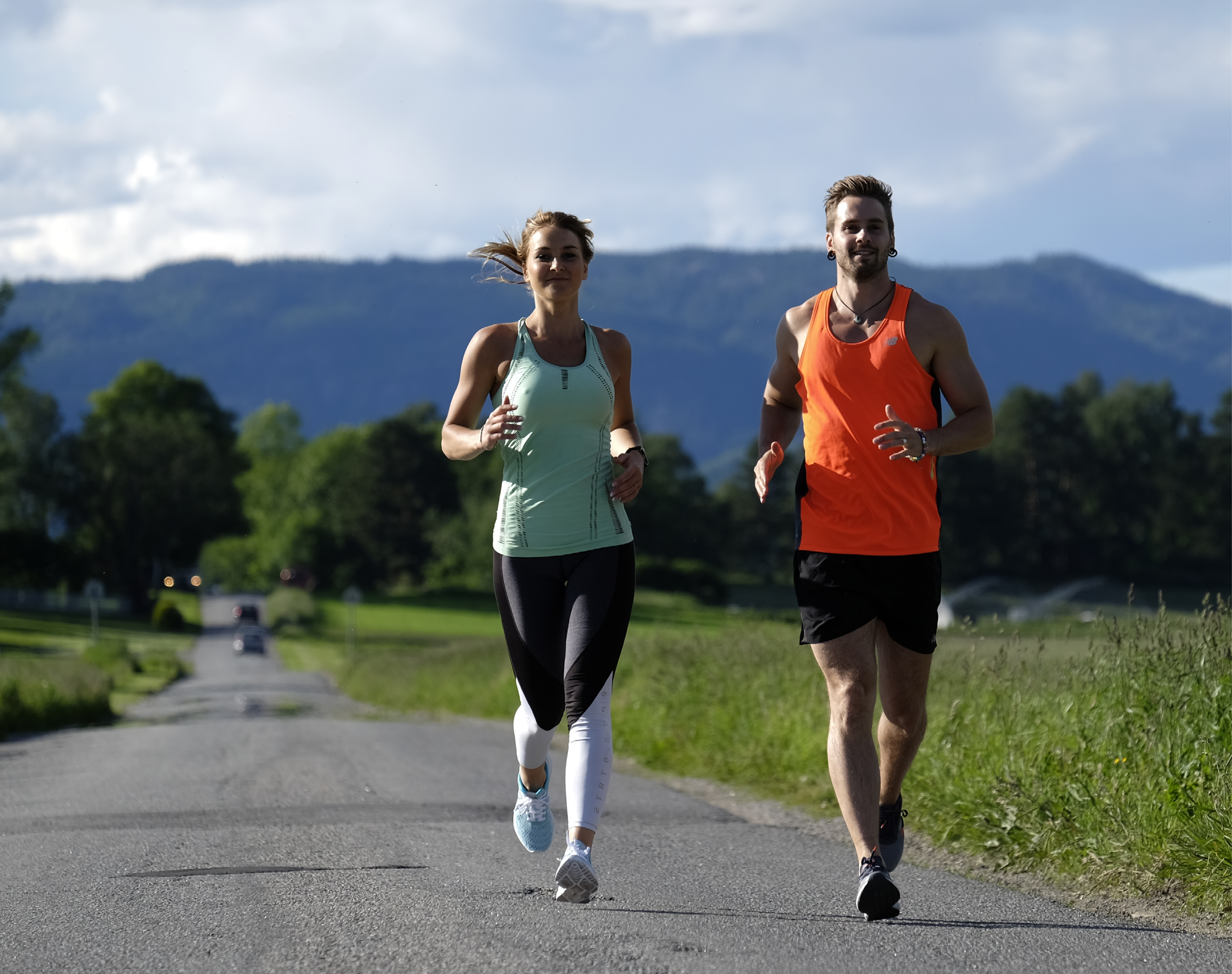 lose weight in 10 days, Marianne and Axel running